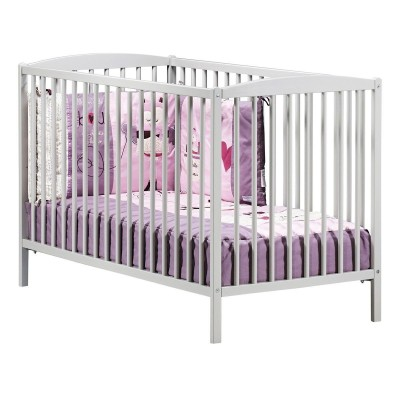 Lit bébé (120 x 60) Baby Price à barreaux gris new Basic